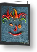 Nutty Greeting Cards - Pepper Person Greeting Card by Patricia Overmoyer