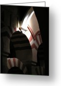 Arcade Digital Art Greeting Cards - Peppermint Arches Greeting Card by Alan Todd