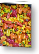 Kitchen Photos Greeting Cards - Peppers Greeting Card by David Bearden