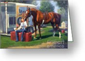 Horse Show Greeting Cards - Pepsi Please Greeting Card by Jeanne Newton Schoborg
