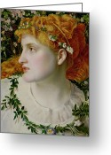 Shepherdess Painting Greeting Cards - Perdita Greeting Card by Anthony Frederick Augustus Sandys