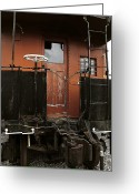 Train Car Greeting Cards - Pere Marquette Caboose Greeting Card by Scott Hovind