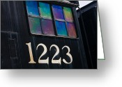 Numbers Photo Greeting Cards - Pere Marquette Locomotive 1223 Greeting Card by Adam Romanowicz