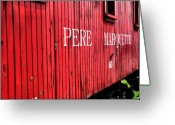 Train Car Greeting Cards - Pere Marquette Greeting Card by Scott Hovind