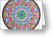 Mandalas Art Pastels Greeting Cards - Perfect Balance Greeting Card by Marcia Lupo