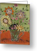 Doll Painting Greeting Cards - Perfect Garden Greeting Card by Rain Ririn