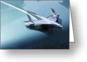 Touchdown Greeting Cards - Perfect Landing Greeting Card by Viktor Savchenko
