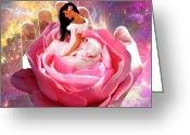 Prophetic Art Greeting Cards - Perfect Love Greeting Card by Dolores DeVelde