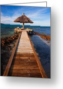 Tropical Island Photo Greeting Cards - Perfect Vacation Greeting Card by Adam Romanowicz