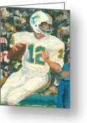 Miami Dolphins Greeting Cards - Perfect12 Greeting Card by Jorge Delara