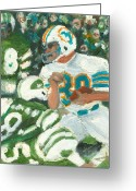 Miami Dolphins Greeting Cards - Perfect39 Greeting Card by Jorge Delara