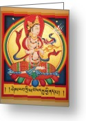 Thanka Greeting Cards - Perfection of Insight Greeting Card by Sergey Noskov