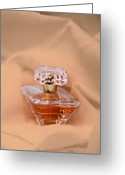 Cosmetics Greeting Cards - Perfume Bottle Still Life III in Peach Greeting Card by Tom Mc Nemar