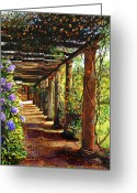 Favorites Greeting Cards - Pergola Walkway Greeting Card by David Lloyd Glover