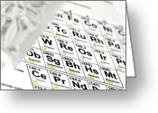 Periodic Greeting Cards - Periodic Table Greeting Card by Steve Horrell