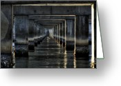 Bridge Greeting Cards - Perpectives Greeting Card by Michael Herb
