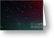 Meteor Photo Greeting Cards - Perseid Meteor Shower Greeting Card by Thomas R Fletcher