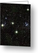 All Star Photo Greeting Cards - Perseus Double Star Cluster, Infrared Greeting Card by 2MASS project / NASA