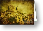 Aged Digital Art Greeting Cards - Persian Empire Greeting Card by Andrew Paranavitana