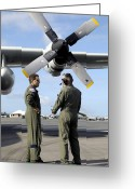 Transceiver Greeting Cards - Personnel Conduct A Pre-flight Briefing Greeting Card by Stocktrek Images