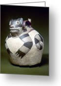2nd Greeting Cards - Peru: Nazca Whistling Jar Greeting Card by Granger