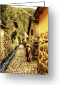Terra Greeting Cards - Peruvian Streets Greeting Card by Stuart Deacon