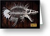 Monster Reliefs Greeting Cards - Pescado Dos Greeting Card by Baron Dixon
