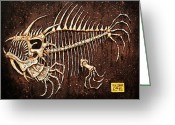 Monster Reliefs Greeting Cards - Pescado Seis Greeting Card by Baron Dixon