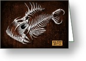 Monster Reliefs Greeting Cards - Pescado Tres Greeting Card by Baron Dixon