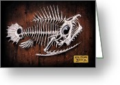 Monster Reliefs Greeting Cards - Pescado Uno Greeting Card by Baron Dixon