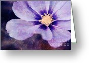 Purple Floral Greeting Cards - Petaline - 06bt04b Greeting Card by Variance Collections