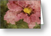 Flower Art Greeting Cards - Petaline - ar01bt05 Greeting Card by Variance Collections