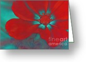 Rouge Greeting Cards - Petaline - t23b2 Greeting Card by Variance Collections