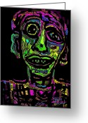 Green Forehead Greeting Cards - Peter Greeting Card by Natalie Holland