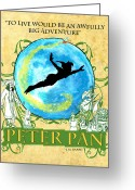 Tink Greeting Cards - Peter Pan Tribute Greeting Card by William Depaula