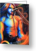 Howl Greeting Cards - Peter Steele Greeting Card by Cobb Family Art
