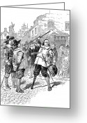Amputee Greeting Cards - Peter Stuyvesant Greeting Card by Granger