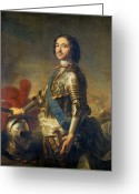Greaves Greeting Cards - Peter The Great, Russian Tsar Greeting Card by Ria Novosti