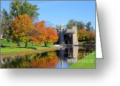 Historic Site Greeting Cards - Peterborough Lift Lock Greeting Card by Charline Xia