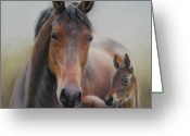 Family Pastels Greeting Cards - Petite Princess and Esperanza Greeting Card by Sabina Haas