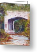Petoskey Painting Greeting Cards - Petoskey Bridge Greeting Card by Kurt Anderson 