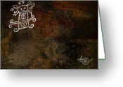 Petroglyph Greeting Cards - Petroglyph 8 Greeting Card by Bibi Romer