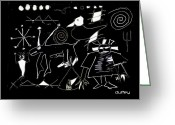 Ancient Aliens Greeting Cards - Petroglyphs 1 Greeting Card by Doug  Duffey