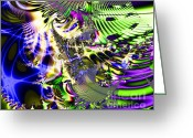 Mandelbrot Set Greeting Cards - Phantasm Greeting Card by Wingsdomain Art and Photography