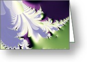 Mandelbrot Set Greeting Cards - Phantom Greeting Card by Wingsdomain Art and Photography