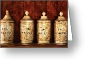 Jars Greeting Cards - Pharmacist - Dont look in these cookie jars  Greeting Card by Mike Savad