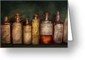 Pharmacy Greeting Cards - Pharmacy - Daily Remedies  Greeting Card by Mike Savad