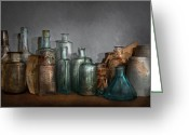 Painterly Greeting Cards - Pharmacy - Doctor I need a refill  Greeting Card by Mike Savad
