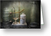 Giclee Photo Greeting Cards - Pharmacy - Victorian Apparatus  Greeting Card by Mike Savad