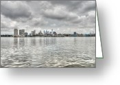 Philadelphia Greeting Cards - Philadelphia Across the Water Greeting Card by Jennifer Lyon